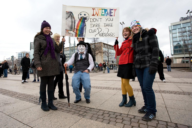Kreativer Protest gegen ACTA