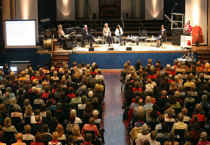 Podiumsdiskussion beim Katholikentag, Foto: Katholikentag