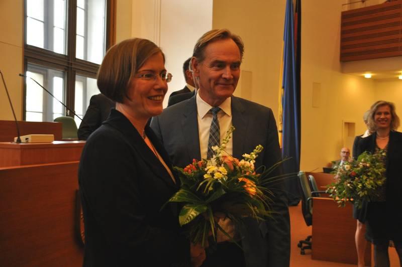 Skadi Jennicke und Burkhard Jung, Foto: Die Linke