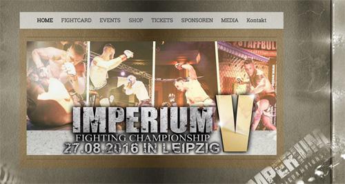 Just sports?: Screenshot der »Imperium Fighting Championship«-Website