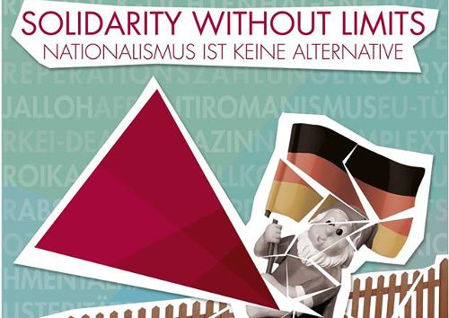 Ausschnitt aus dem Flyer für den Protest gegen die Einheitsfeier