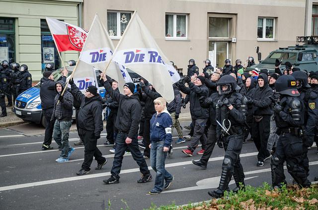 Die Rechte am 12.12.15 in Leipzig, Foto: Tim Wagner