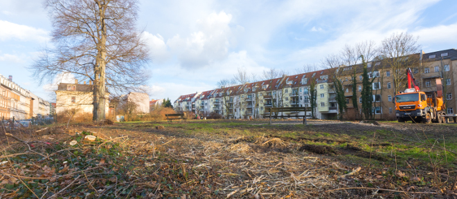 Weniger Park, mehr Wohnungen