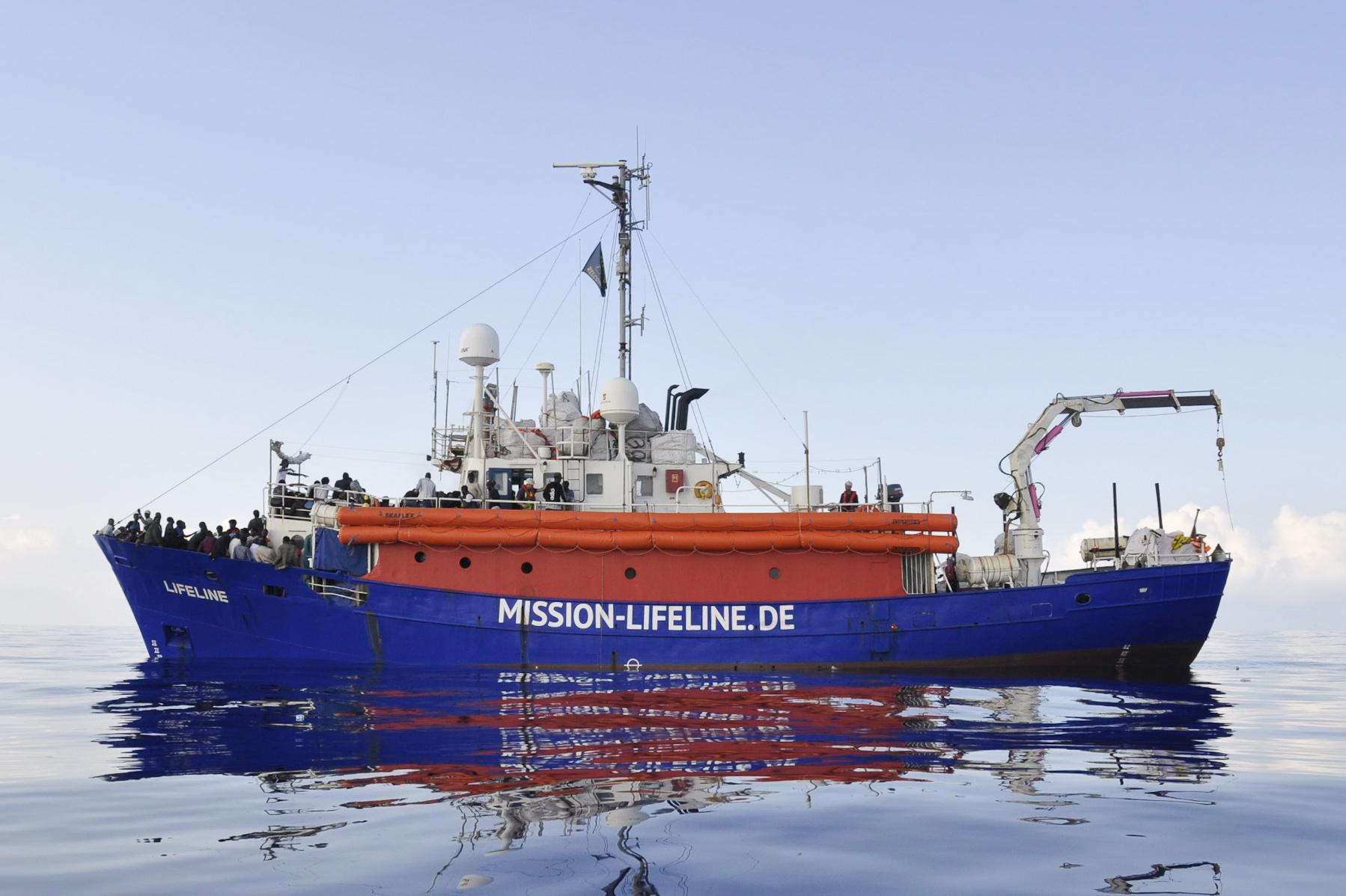 Die Mission Lifeline auf See.